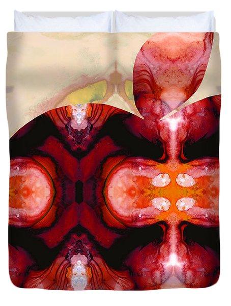A Good Apple - Fruit Art By Sharon Cummings Duvet Cover by Sharon Cummings