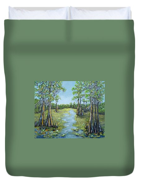 A Good Day For Fishing Duvet Cover by Suzanne Theis