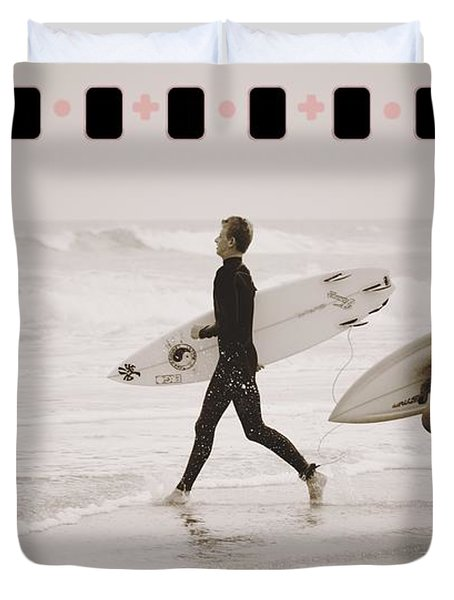 Duvet Cover featuring the photograph A Good Day To Surf by Alice Gipson