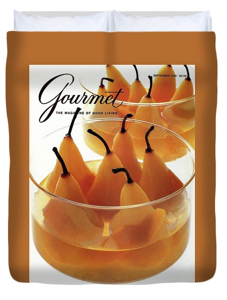 A Gourmet Cover Of Baked Pears Duvet Cover by Romulo Yanes