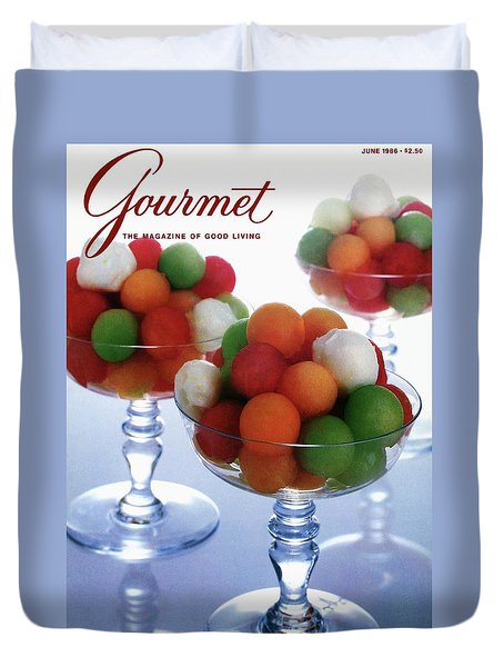 A Gourmet Cover Of Melon Balls Duvet Cover by Romulo Yanes
