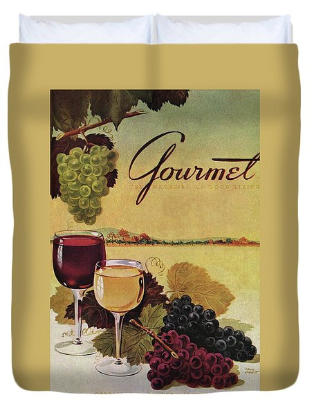 A Gourmet Cover Of Wine Duvet Cover by Henry Stahlhut