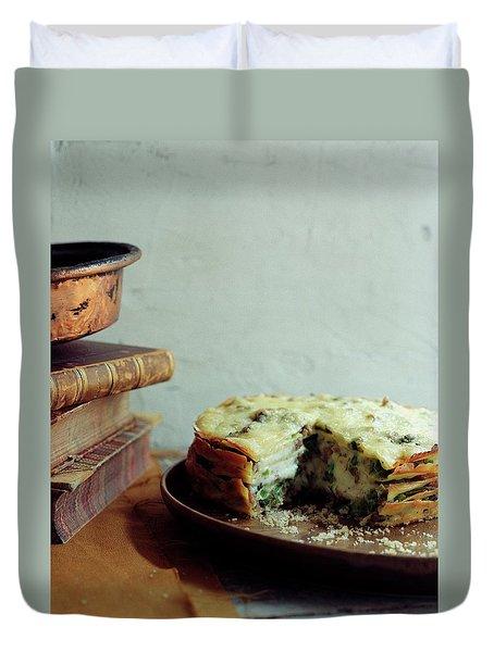 A Gourmet Torte Duvet Cover