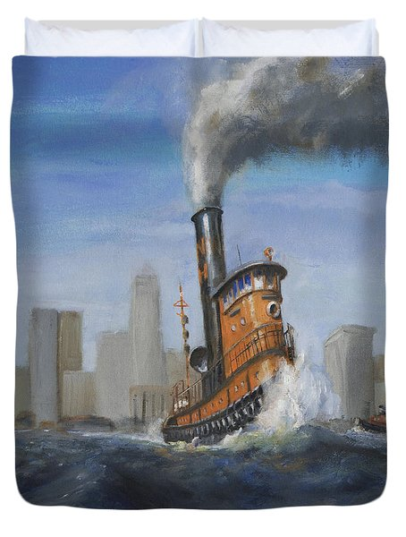 A Great Day For Tugs Duvet Cover by Christopher Jenkins