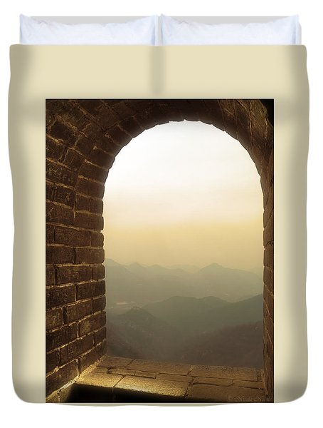 A Great View Of China Duvet Cover by Nicola Nobile