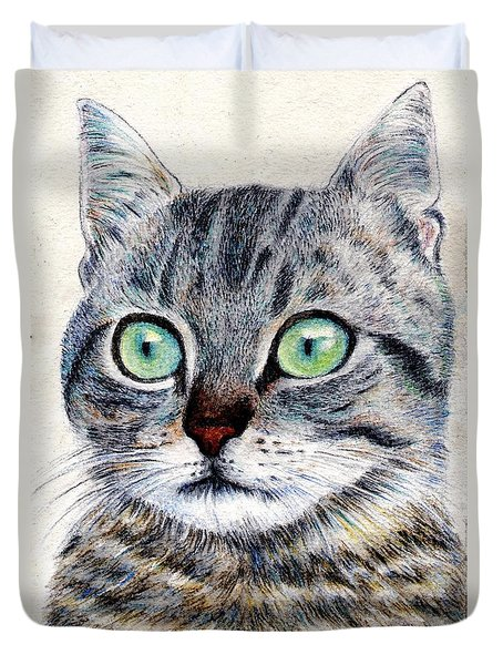 A Grey Tabby Duvet Cover