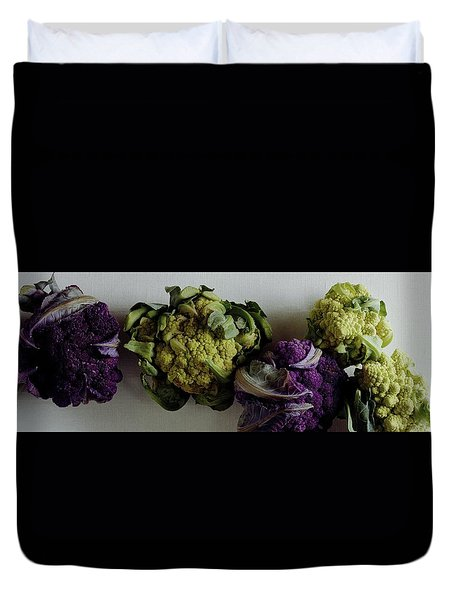 A Group Of Cauliflower Heads Duvet Cover