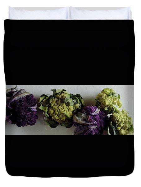 A Group Of Cauliflower Heads Duvet Cover