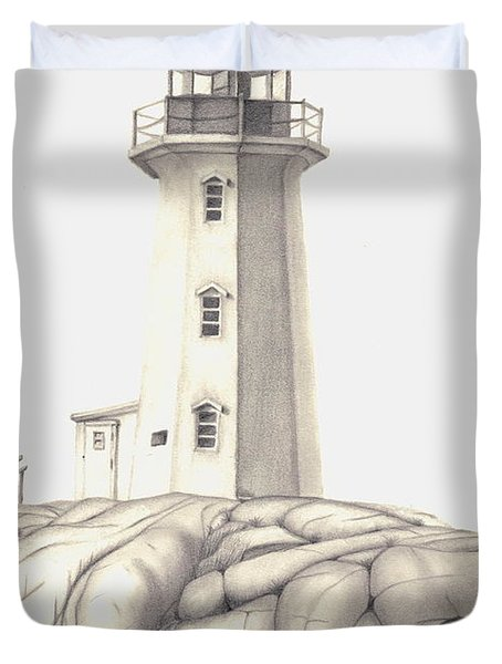 A Guiding Light Duvet Cover by Patricia Hiltz