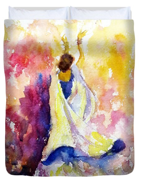 A Heavenly Dancer Duvet Cover