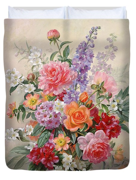A High Summer Bouquet Duvet Cover