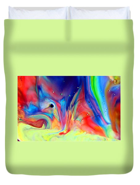 A Higher Frequency Duvet Cover by Joyce Dickens
