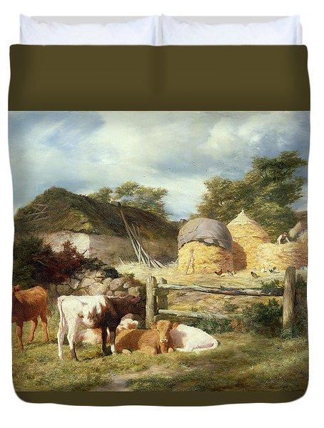 A Highland Croft, 1873 Duvet Cover