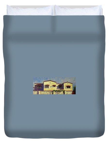 A Home In Barranco,peru Impression Duvet Cover