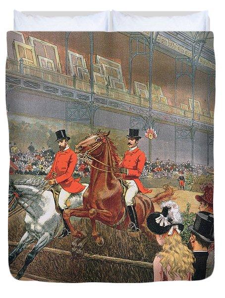 A Horse Race Duvet Cover by Adrien Emmanuel Marie