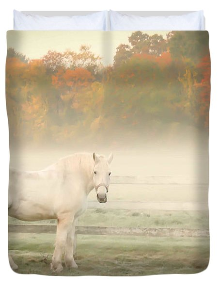A Horse With No Name Duvet Cover by K Hines