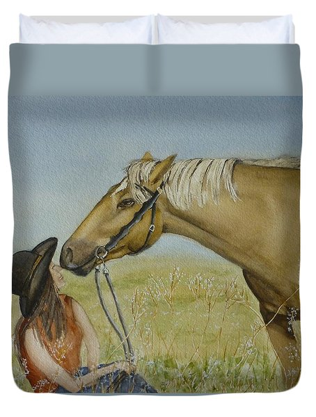 A Horses Gentle Touch Duvet Cover
