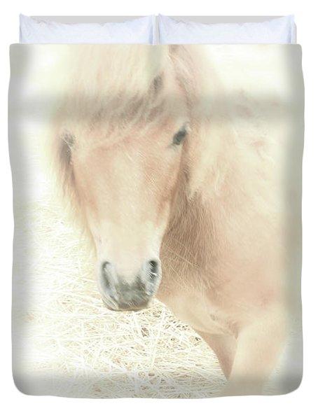 A Horse's Spirit Duvet Cover by Karol Livote