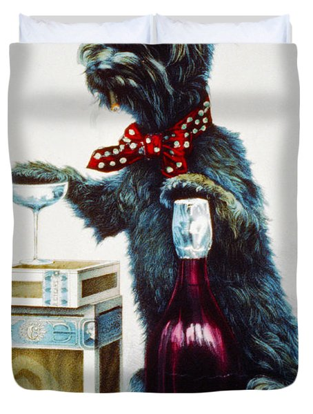 A Jolly Dog Duvet Cover by Currier and Ives