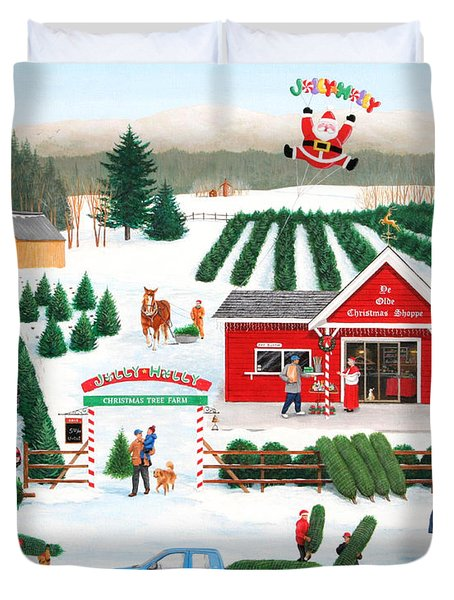 A Jolly Holly Holiday Duvet Cover