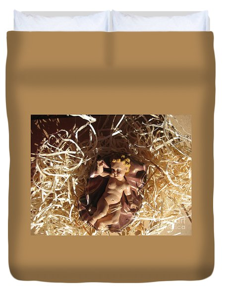 A King Is Born Duvet Cover