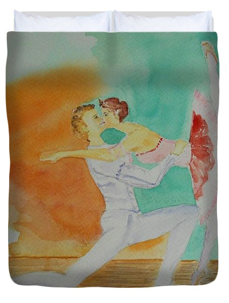 A Kiss In Ballet  Duvet Cover
