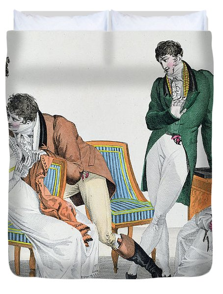 A Kissing Game Duvet Cover by French School
