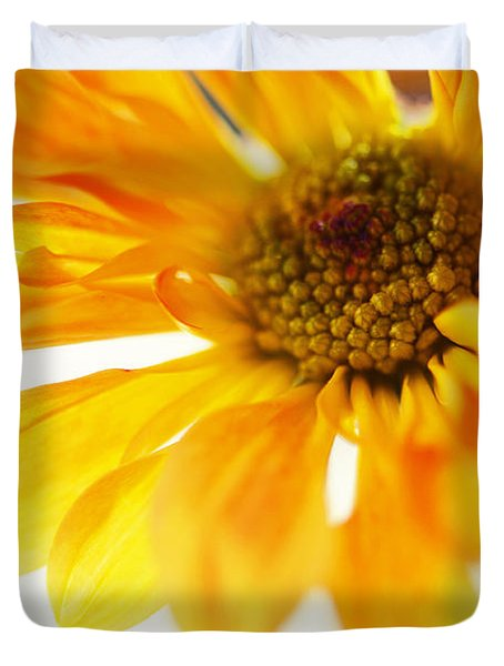 A Little Bit Sun In The Cold Time Duvet Cover