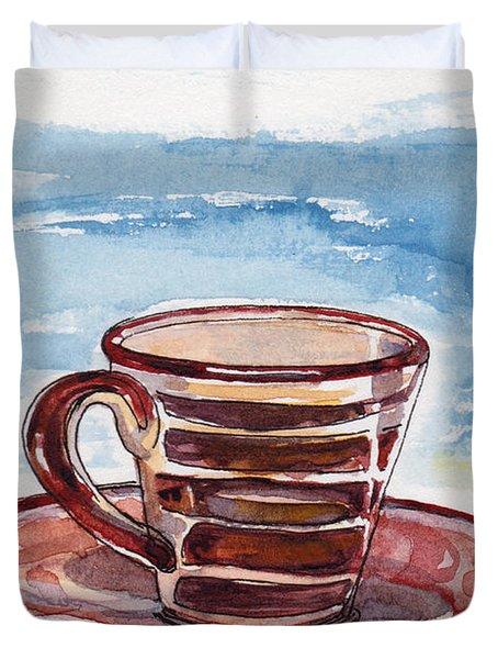 A Little Espresso Duvet Cover by Julie Maas
