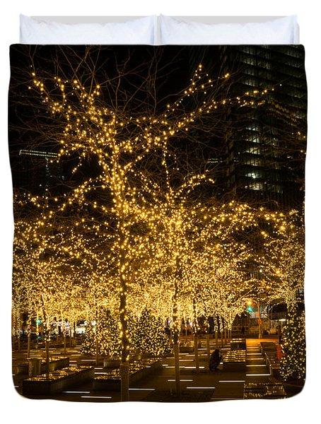 A Little Golden Garden In The Heart Of Manhattan New York City Duvet Cover
