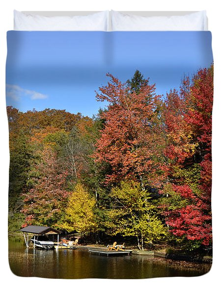 A Little Piece Of Adirondack Heaven Duvet Cover