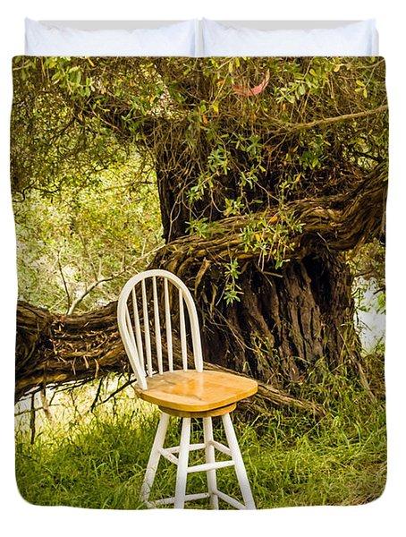 A Little Solitude Duvet Cover