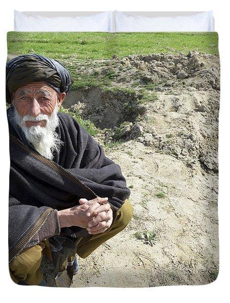 A Local Afghan Man Near A Village Duvet Cover by Stocktrek Images