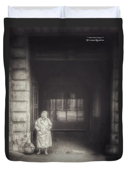 Duvet Cover featuring the photograph A Long Boring Wait... by Stwayne Keubrick