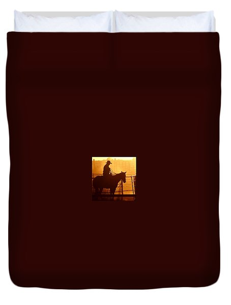 Duvet Cover featuring the photograph A Long Day by Steven Reed
