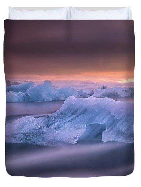 A Long Exposure Of A Sunset Duvet Cover