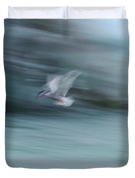 A Long Exposure Of An Arctic Tern Duvet Cover