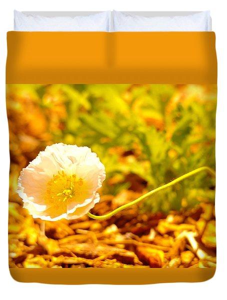 A Long Stemmed Flower Duvet Cover by Jeff Swan