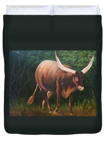 A Lot Of Bull, Watusi  Duvet Cover