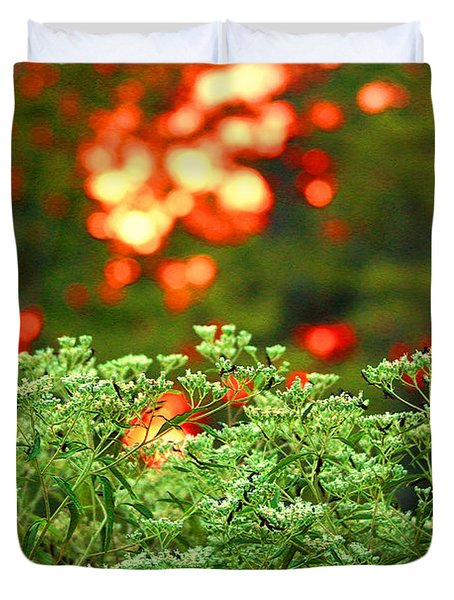 A Love Bug Sunset Duvet Cover