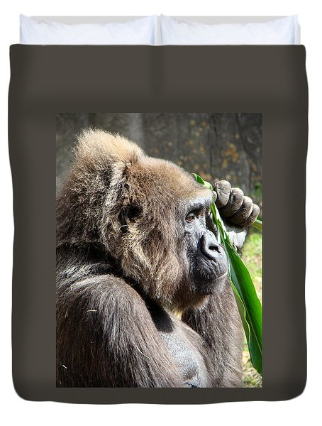 Duvet Cover featuring the photograph A Lovely Thought by Phyllis Beiser