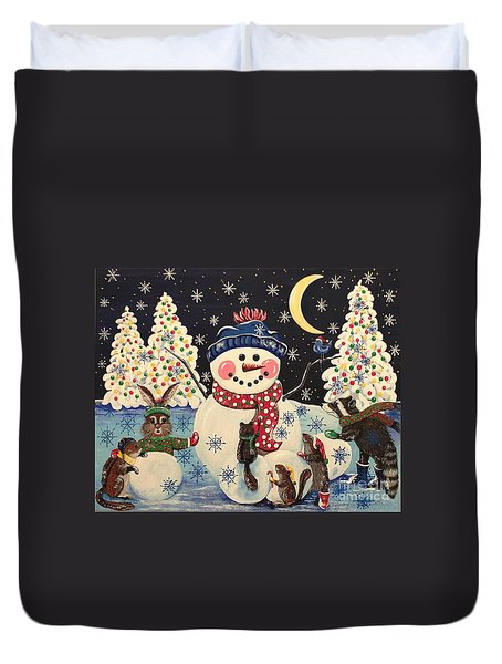 A Magical Night In The Snow Duvet Cover
