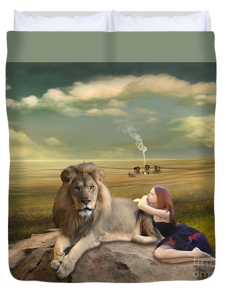 A Magnificent Friendship Duvet Cover by Linda Lees