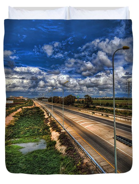 a majestic springtime in Israel Duvet Cover
