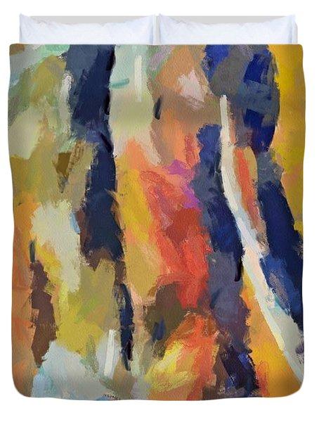 A Male Torso Duvet Cover