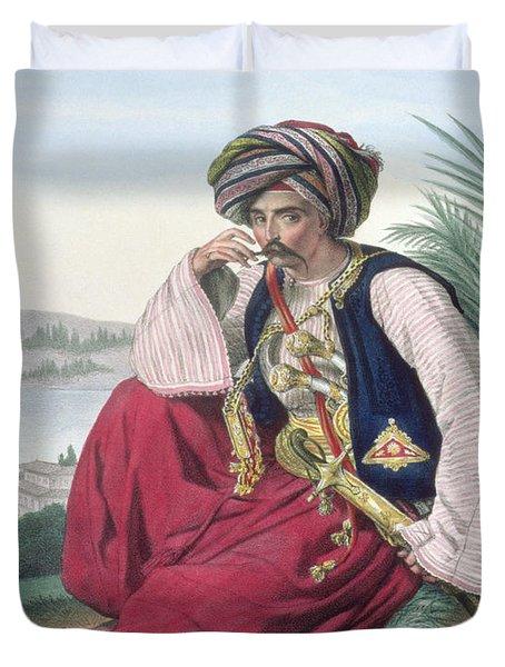 A Mameluke Or Slave Soldier, Engraved Duvet Cover