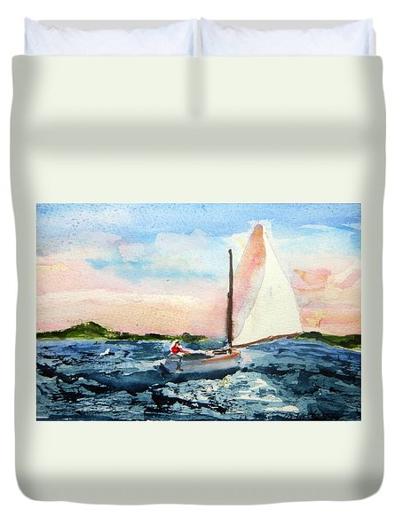 A Man And His Boat Duvet Cover
