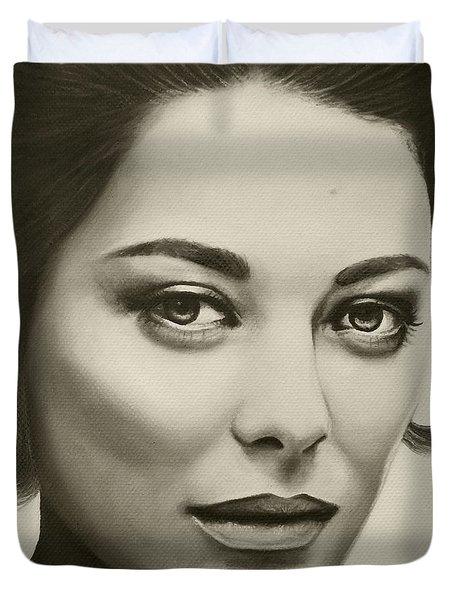 A Mark Of Beauty - Marion Cotillard Duvet Cover