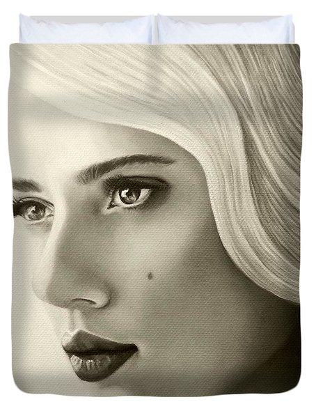 A Mark Of Beauty - Scarlett Johansson Duvet Cover