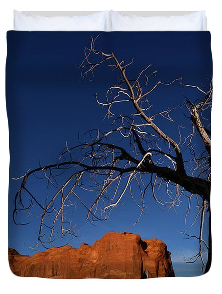 A Mesquite Trees And Buttes Duvet Cover